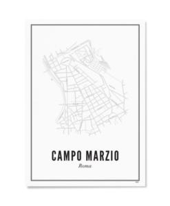 Poster Wijck 21x30 Roma-Campo Marzio