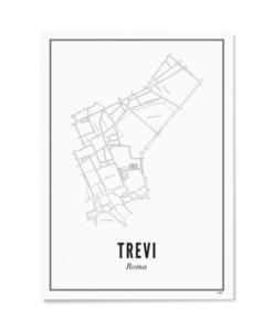 Poster Wijck 21x30 Rome-Trevi